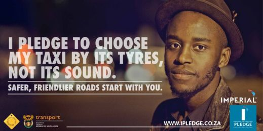 I PLEDGE TO CHOOSE MY TAXI BY ITS TYRES
